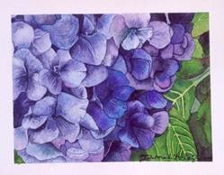 Art: HYdrangea by Artist Deborah Leger