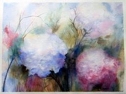 Art: Un-named floral by Artist Deborah Leger