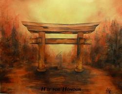 Art: H is for Honour by Artist Deborah Leger