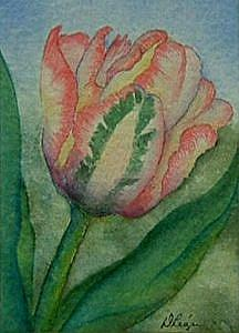 Art: Tulip by Artist Deborah Leger