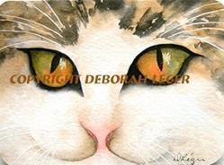 Art: Moose the Cat by Artist Deborah Leger