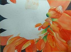 Art: Dahlias by Artist Deborah Leger