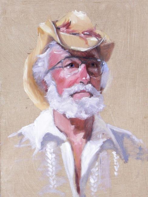 Art: Cowboy I by Artist Debra Schott