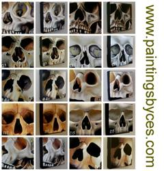 Art: 29 Skulls Collection by Artist Christine E. S. Code ~CES~