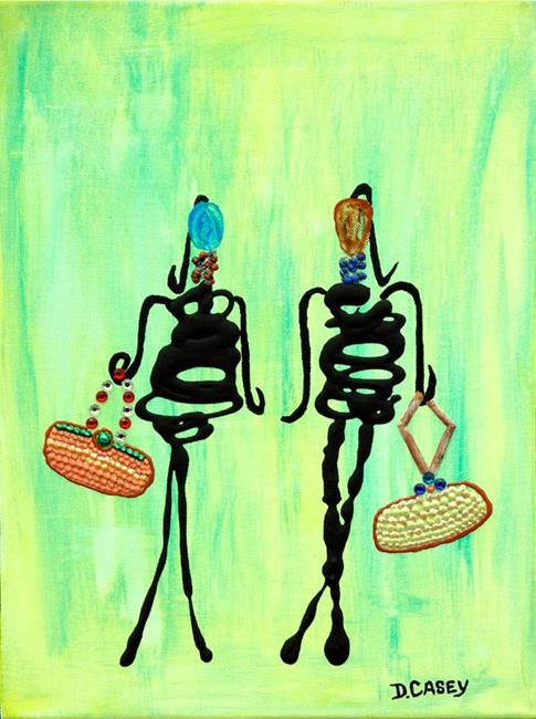 Art: Sally & Mary Shop til they Drop! by Artist Diane G. Casey