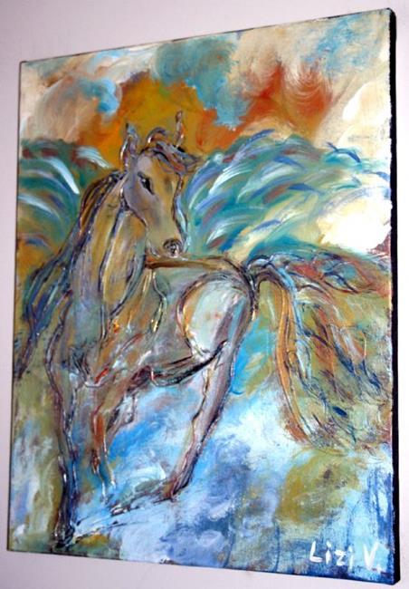 Art: A MESSAGE SENT FROM EDEN-sold by Artist LUIZA VIZOLI