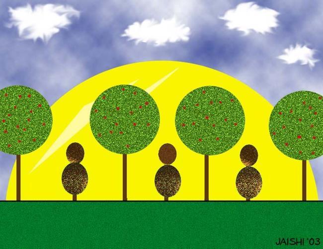 Art: Walk In The Park by Artist Shirley Inocenté