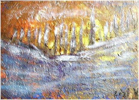 Art: YELLOW MOON-SOLD by Artist LUIZA VIZOLI