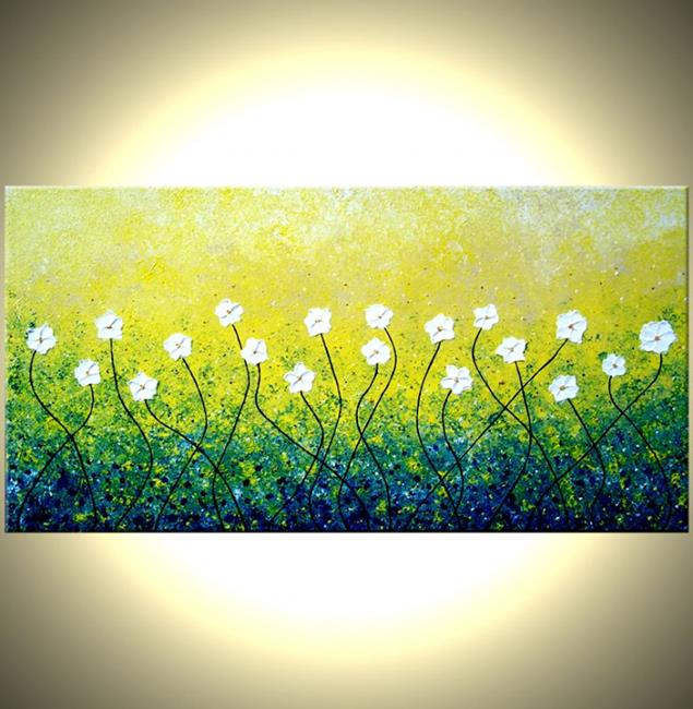 Art: DAISIES IN THE WIND by Artist Daniel J Lafferty