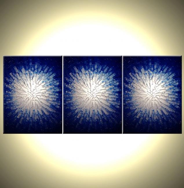 Art: CORE OF SILVER AND BLUE by Artist Daniel J Lafferty