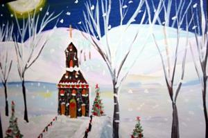 Detail Image for art IN THE HOLY NIGHT-sold