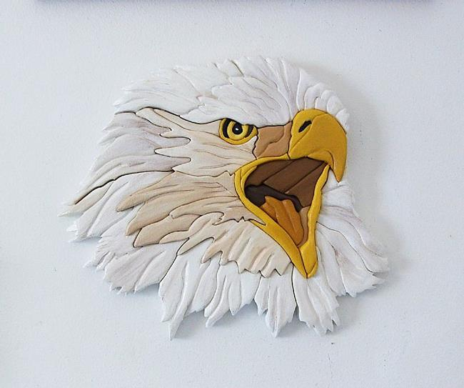 Art: EAGLE INTARSIA by Artist Gina Stern