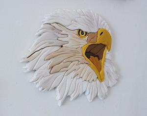 Detail Image for art EAGLE INTARSIA