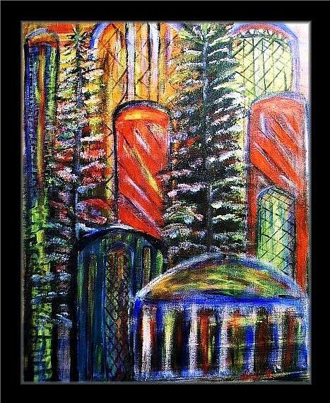 Art: CATHEDRALS LIGHT- sold by Artist LUIZA VIZOLI