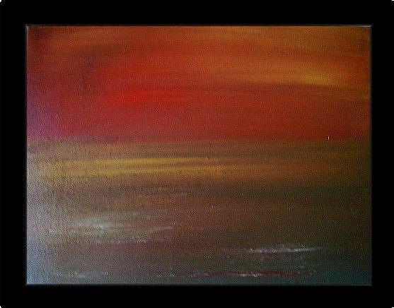 Art: SUNSET-sold by Artist LUIZA VIZOLI