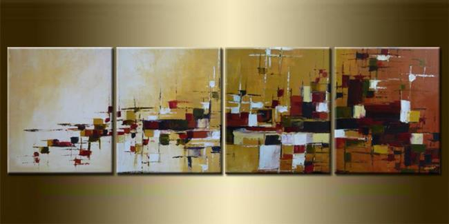 Art: ORIGINAL abstract PAINTING MODERN Art - SOLD by Artist Nataera
