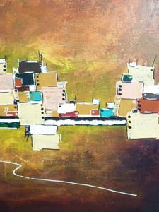 Detail Image for art ORIGINAL ABSTRACT LANDSCAPE PAINTIN