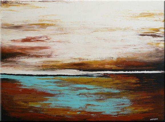 Art: ORIGINAL ABSTRACT LANDSCAPE PAINTING by Artist Nataera