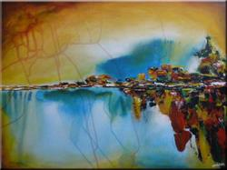 Art: ORIGINAL ABSTRACT LANDSCAPE PAINTING by Artist Nataera