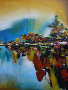 Detail Image for art ORIGINAL ABSTRACT LANDSCAPE PAINTING
