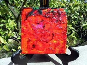 Detail Image for art FIRESIDE GLOW (SOLD)