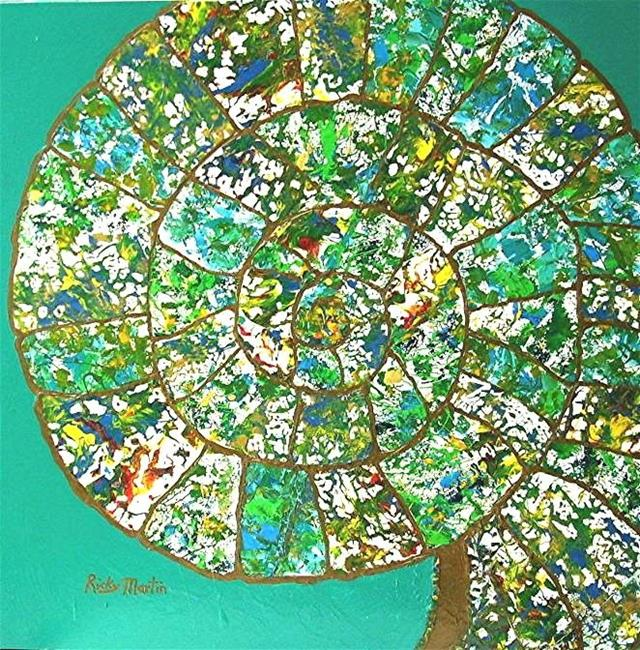 Art: Ammonite  by Artist Ulrike 'Ricky' Martin