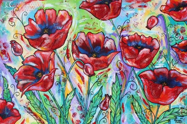 Art: Poppies ... poppies by Artist Melanie Douthit