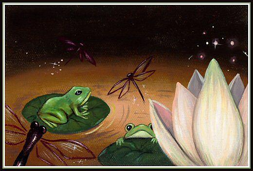 Art: Enchanted Water Lily  by Artist Elaina Wagner