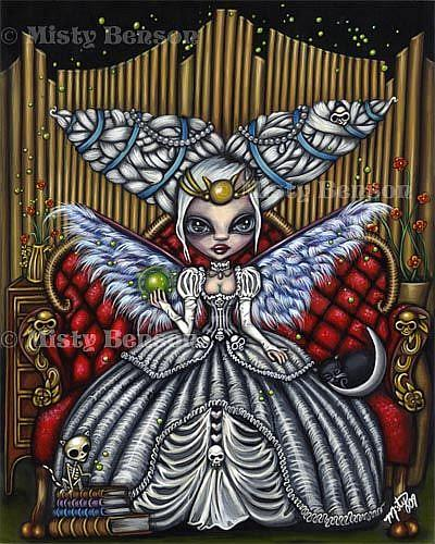 Art: The Priestess from the Morbidly Adorable Tarot by Artist Misty Monster (Benson)