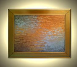 Art: SILVER AND GOLD REFLECTIONS by Artist Daniel J Lafferty