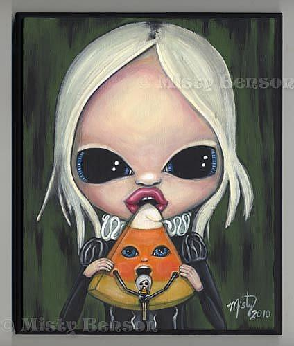 Art: Candy Corn Food Chain -- Candy Show by Artist Misty Monster (Benson)