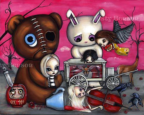 Art: Comfort In Being Sad by Artist Misty Monster (Benson)