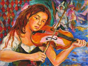 Detail Image for art The Violinist