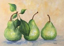 Art: Fresh Picked Pears by Artist Torrie Smiley