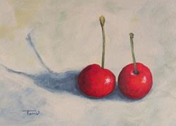 Art: Red Cherries II by Artist Torrie Smiley