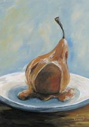 Art: Pear with Caramel by Artist Torrie Smiley