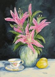 Art: Tea with Lilies by Artist Torrie Smiley
