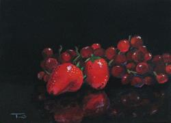Art: Strawberries and Grapes by Artist Torrie Smiley