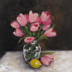 Art: Tulips and Lemon by Artist Torrie Smiley