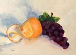 Art: Orange and Grapes by Artist Torrie Smiley