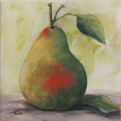 Art: A Simple Pear by Artist Torrie Smiley