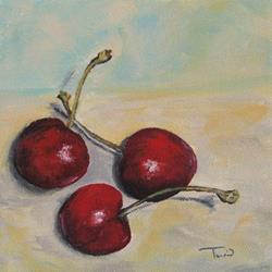 Art: Bing Cherries by Artist Torrie Smiley