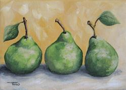 Art: Fresh Green Pears by Artist Torrie Smiley