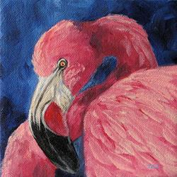 Art: Pink Flamingo IV by Artist Torrie Smiley