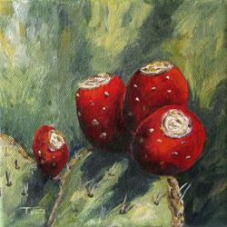 Art: Prickly Pear Cactus II by Artist Torrie Smiley