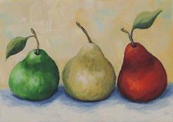 Art: Traffic Signal Pears by Artist Torrie Smiley