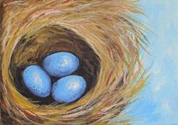 Art: Robin's Three Eggs VI by Artist Torrie Smiley