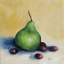 Art: Pear with Friends by Artist Torrie Smiley