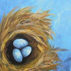 Art: Robin's Three Eggs VII by Artist Torrie Smiley