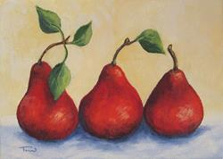 Art: Fresh Red Pears by Artist Torrie Smiley